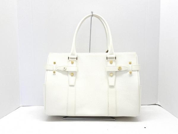 サマンサタバサニューヨーク ハンドバッグ 白 型押し加工 合皮