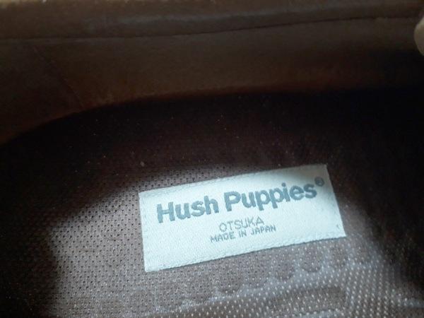 ハッシュパピーズ シューズ 25 1/2 メンズ美品  ブラウン×ダークブラウン レザー
