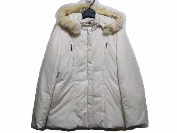 J.PRESS(ジェイプレス) ダウンジャケット サイズ9 M レディース 白 冬物/ジップアップ
