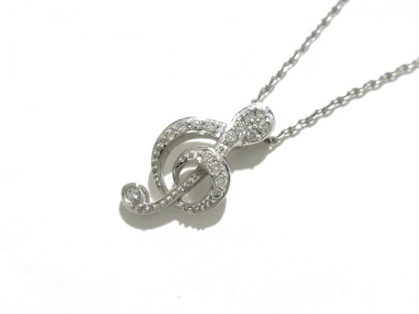 PonteVecchio(ポンテヴェキオ) ネックレス美品  K18WG×ダイヤモンド 1