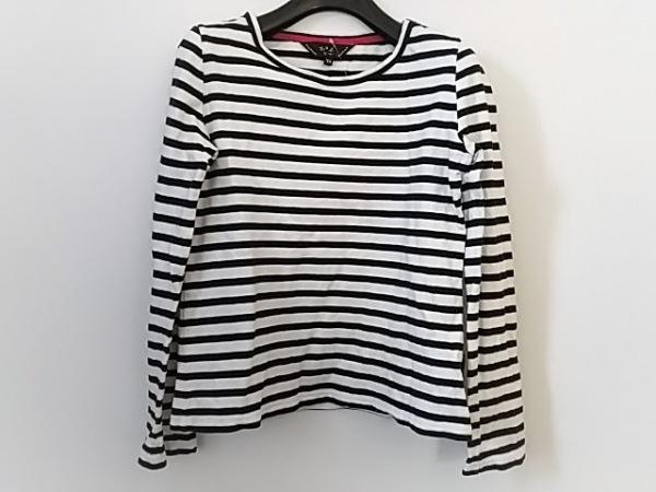 【中古】 アニエスベー agnes b 長袖Tシャツ サイズTU レディース 白 黒 ボーダー