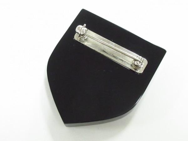 CHANEL(シャネル) ブローチ美品  プラスチック 黒×ボルドー×マルチ 2