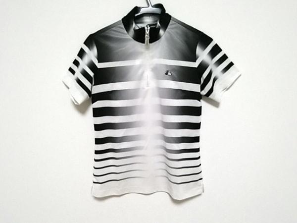 ブラック&ホワイト 半袖カットソー サイズ1 S レディース美品  白×黒 ボーダー