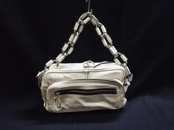 クロエ ハンドバッグ - 白×シルバー