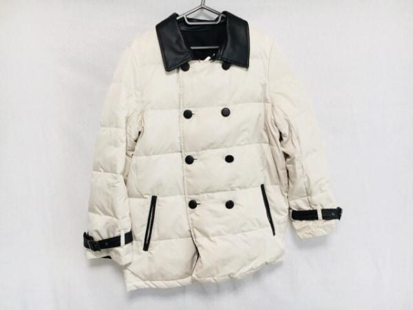 ダーマコレクション ダウンコート サイズ13AR M レディース  白×黒