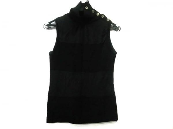 イオ ノースリーブセーター サイズ1 S 黒