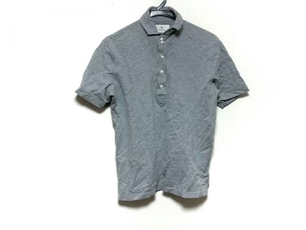 EDIFICE(エディフィス) 半袖ポロシャツ サイズ46 XL メンズ グレー×マルチ