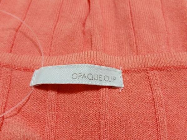 オペーク 半袖カットソー サイズ38 M レディース美品  ピンク×アイボリー×クリア
