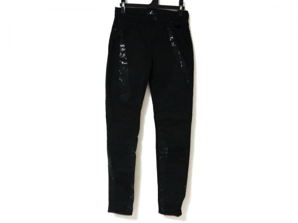 セブンフォーオールマンカインド パンツ サイズ26 S レディース 黒 ラインストーン