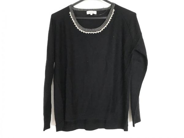 スープ 長袖セーター サイズ11 M 黒×白