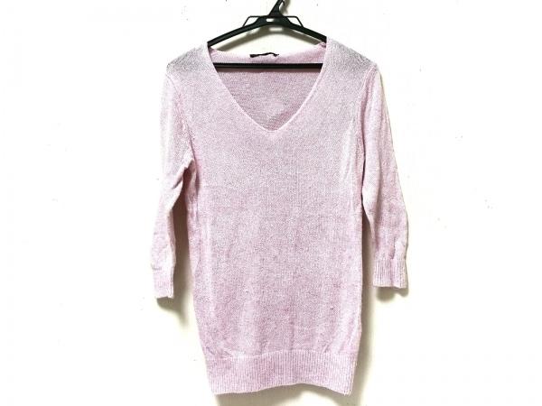 ティテインザストア 七分袖セーター ピンク