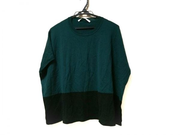 アイバイオプティチュード セーター サイズ1 S レディース グリーン×黒