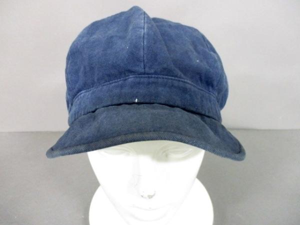 COEUR(クール) 帽子 ネイビー コットン×麻