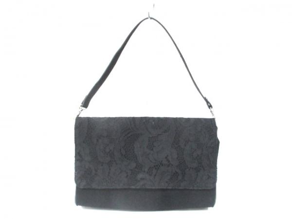 ビームスライツ ハンドバッグ 黒 化学繊維