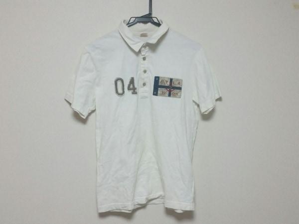 パープル&イエロー 半袖ポロシャツ サイズM