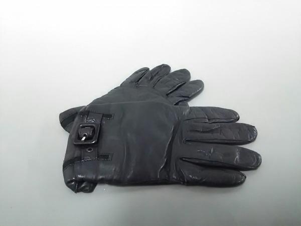 ピュメリ 手袋 レディース美品  黒 レザー