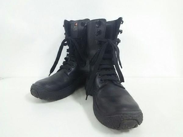 エナジー ショートブーツ 25.5 メンズ 黒