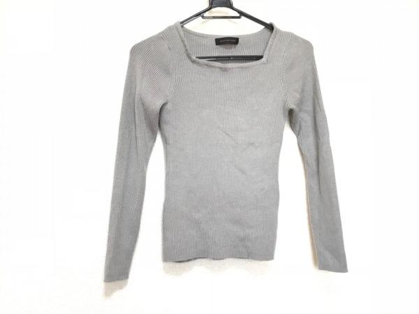 【中古】 インタープラネットウィング 長袖セーター サイズ002 レディース ネイビー グレー ボーダー