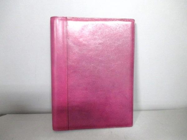アシュフォード 手帳 パープル 大 レザー