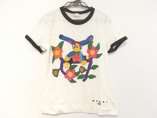 エイチアンドエム×マルニ 半袖Tシャツ サイズXS レディース 白×黒×マルチ