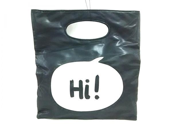 ツインルーム ハンドバッグ 黒×白 合皮