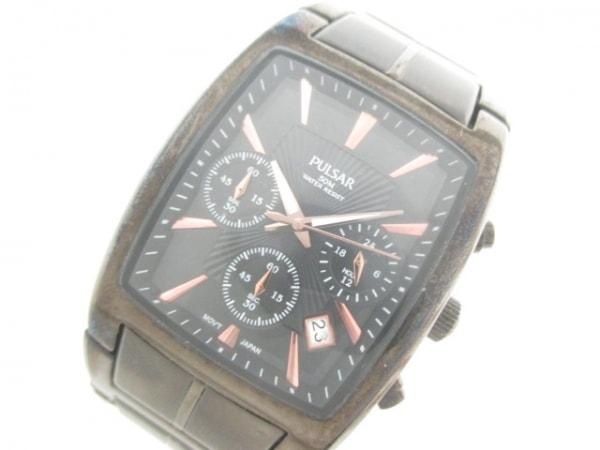 パルサー 腕時計 VD53-X034 メンズ 黒