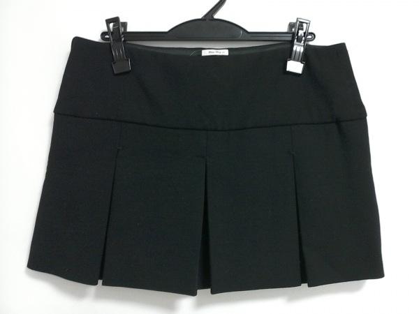 ミュウミュウ ミニスカート サイズ40 M 黒