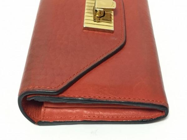 クロエ 長財布 サリー ブラウン 型押し加工