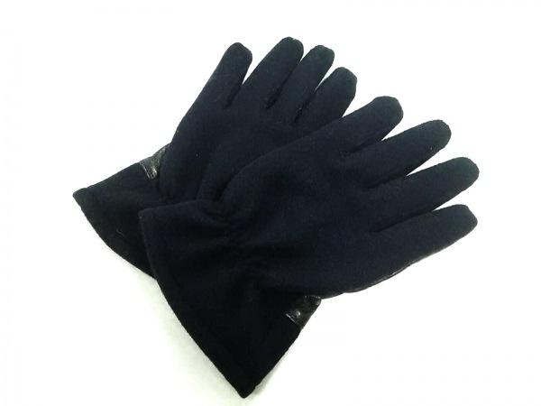 フィグベル 手袋 9 メンズ ネイビー×黒