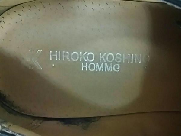 ヒロココシノ シューズ 26 メンズ 黒 HOMME