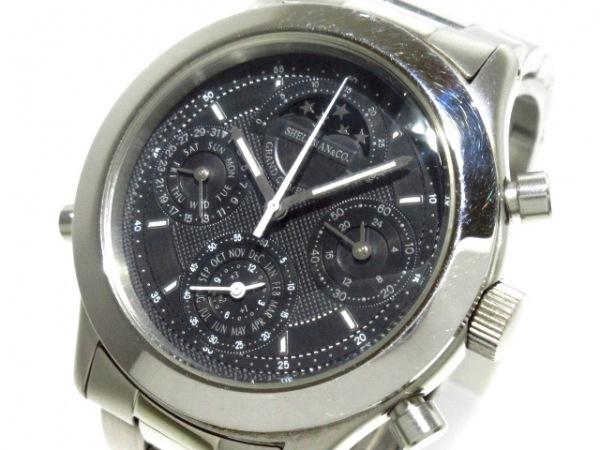 シェルマン 腕時計 6770-H19209 メンズ 黒
