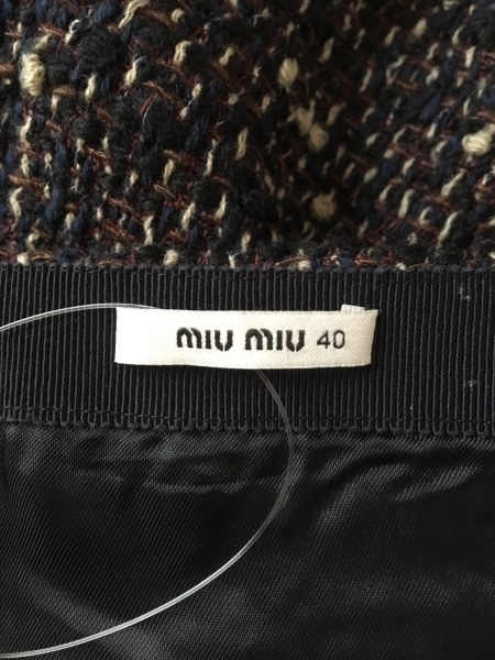 ミュウミュウ ミニスカート サイズ40 M