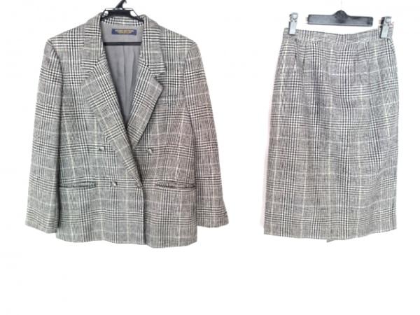 ブルックスブラザーズ スカートスーツ サイズ11AR M レディース 黒×ベージュ×マルチ