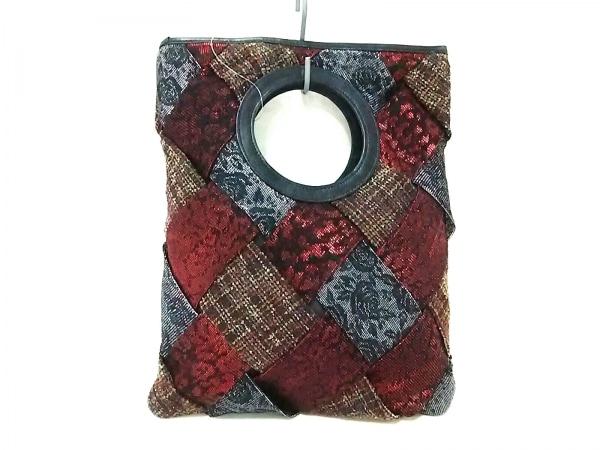 ジャンコロナ ハンドバッグ 編み込み/ラメ