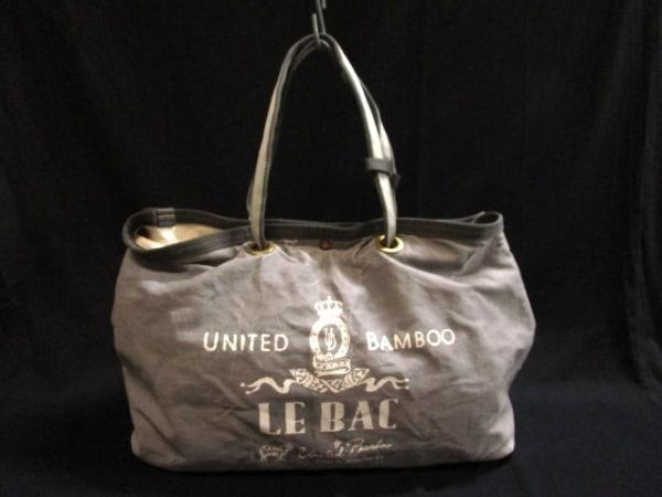 【中古】 ユナイテッドバンブー united bamboo トートバッグ グレー キャンバス 化学繊維