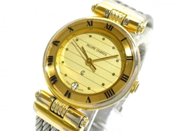 フィリップシャリオール 腕時計 - ゴールド