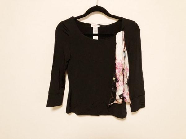 クリスチャンラクロワ 長袖カットソー サイズS S レディース美品  黒×白×マルチ