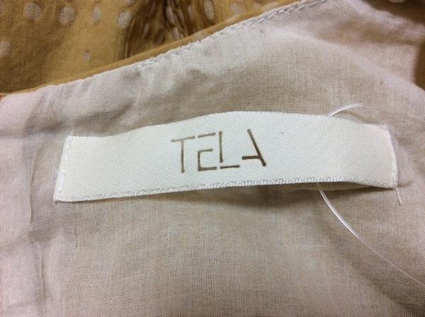 テラ ノースリーブカットソー サイズ40(I) M レディース美品  イエロー×ベージュ