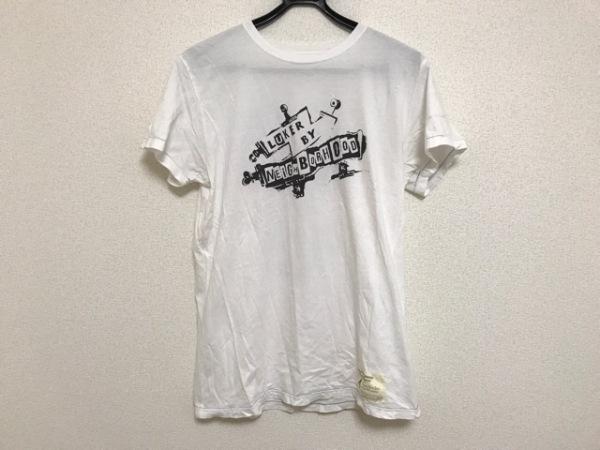 ルーカーバイネイバーフッド 半袖Tシャツ サイズL メンズ 白×黒×マルチ