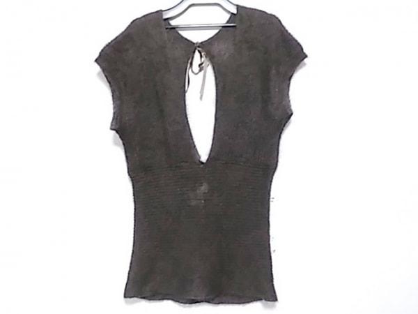ミキミアリー ノースリーブセーター サイズ40 M レディース美品  ダークブラウン