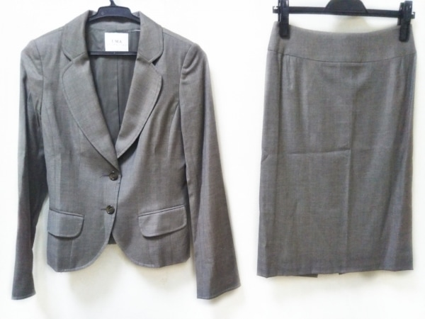 ユマエストネーション スカートスーツ サイズ38 M レディース ブラウン