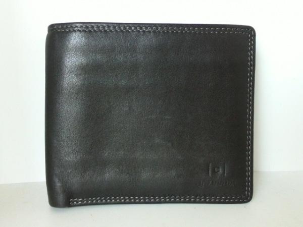 ルタヌア 2つ折り財布 黒 レザー