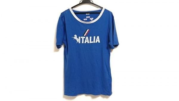 ポールスミスレッドイヤー 半袖Tシャツ サイズM メンズ ブルー×黒