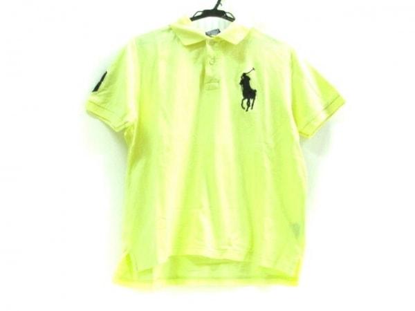 ポロラルフローレン 半袖ポロシャツ サイズM M メンズ ビッグポニー イエロー×黒