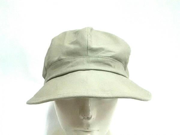 クール 帽子 M美品  ライトグレー コットン