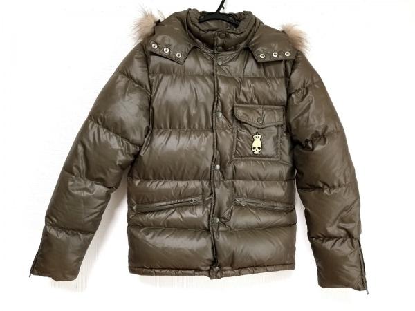 CUSTOMCULTURE(カスタムカルチャー) ダウンジャケット サイズ44 L メンズ カーキ 冬物