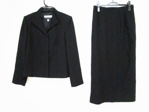 ソワール ペルル スカートスーツ サイズ13 L レディース 黒 肩パッド/ロング丈