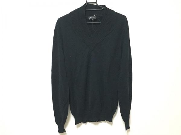 KRISVANASSCHE(クリスヴァンアッシュ) 長袖セーター サイズS メンズ 黒 Vネック