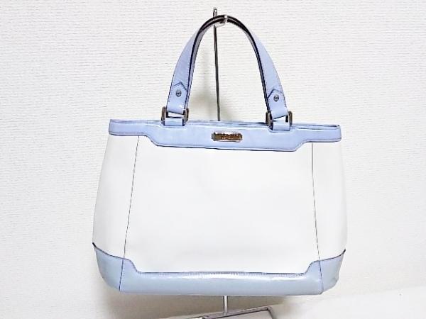ディソーナ ハンドバッグ 白×ライトブルー