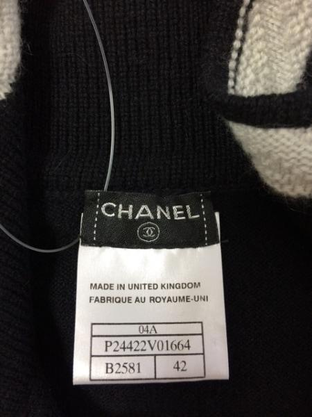 シャネル 半袖セーター サイズ42 L レディース P24422 カシミヤ 3